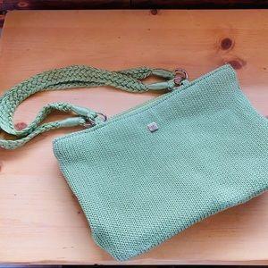 Lina crochet Woven handbag braided satchel Green